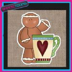 GINGERBREAD MAN MEN JUTE SHOPPING LADIES GIFT BAG 002
